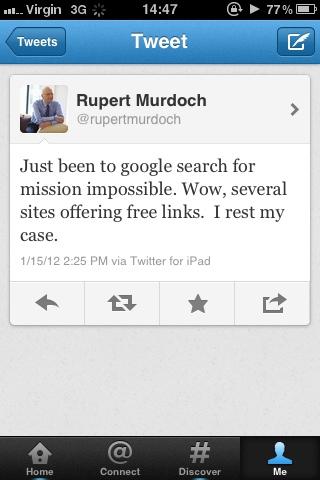 Rupert Murdoch Tweets 2