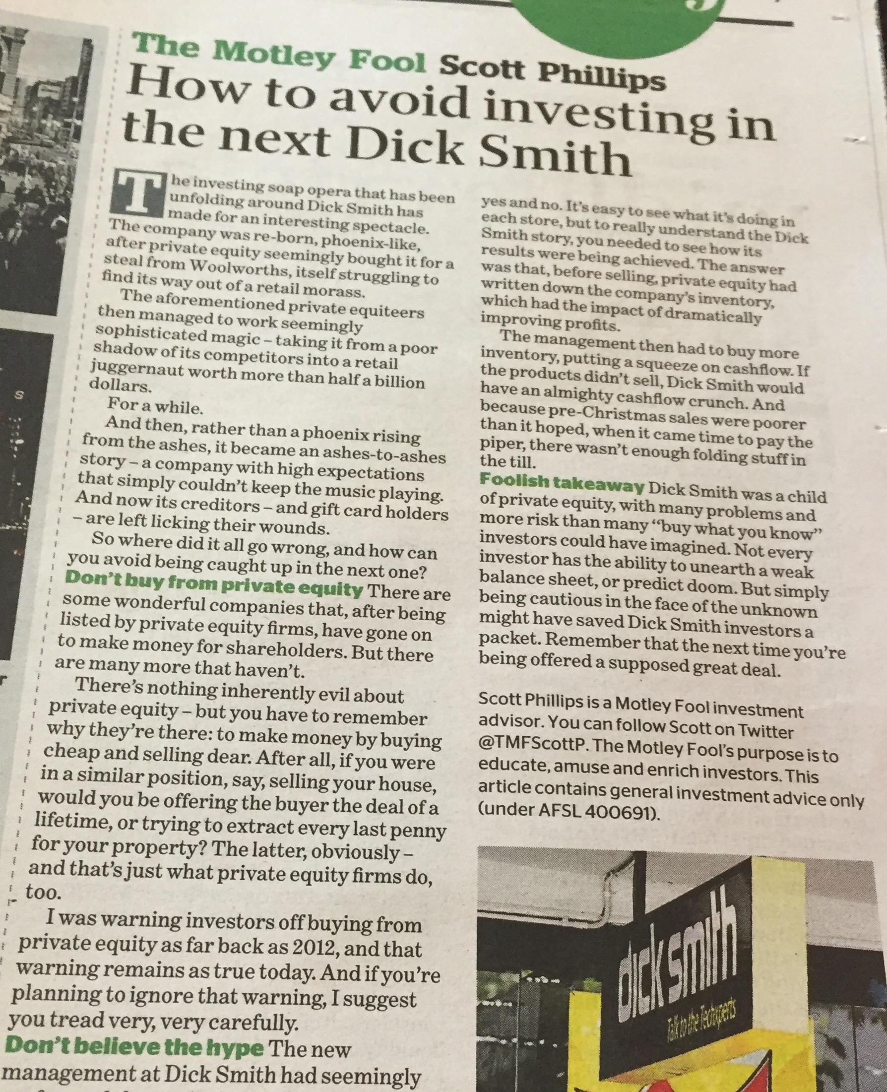 Dick Smith Motley Fool